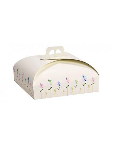 Scatola porta torta con manico - in cartone rigido bianco - 45 cm x 54 cm - 1 pz - DECORA