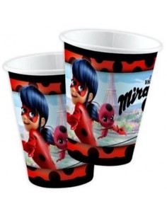 Bicchieri di  Miraculous - Ladybug   -cartoncino stampato  8 pezzi - da 250 ml