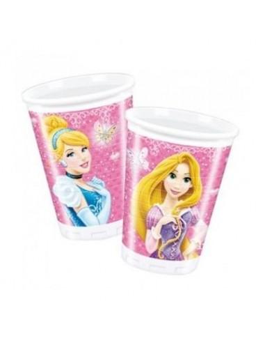 Bicchieri Principesse Disney - 8 pezzi - da 200 ml