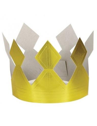 Corona Re / Regina Unisex per Compleanno - 1 pezzo - cartone - color oro - Unique