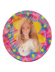 Piattini Grandi   Barbie Diam. 23  cm - Confezione da 10 pezzi - Nuovo