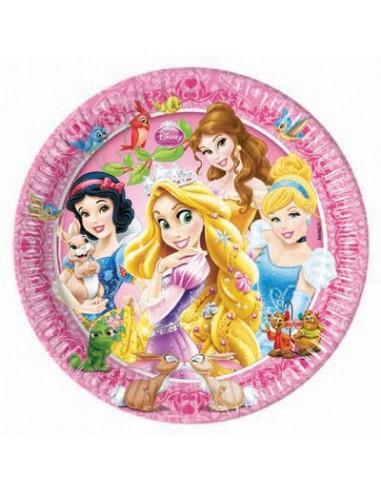 Piattini Principesse Disney piccoli diam. 20 cm 8 pezzi