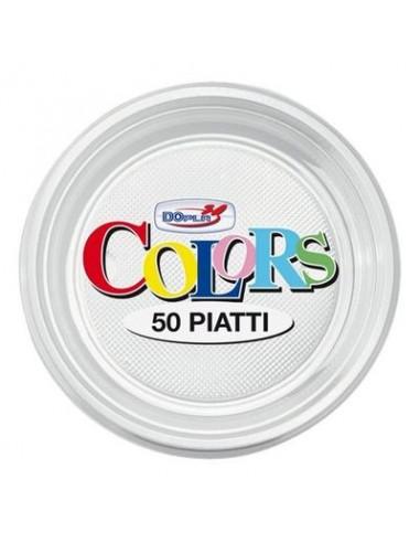 Piatto Frutta Dessert  di plastica pz.50 colore Trasparente  dopla