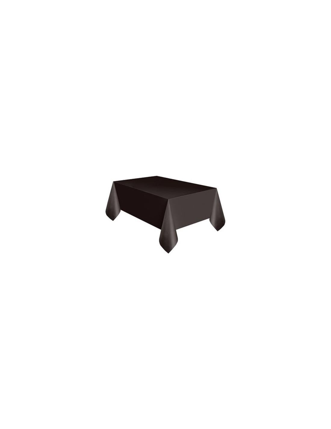 Tovaglia Nera E Oro tovaglia in plastica nera per compleanno - 137 cm x 274 cm - unique