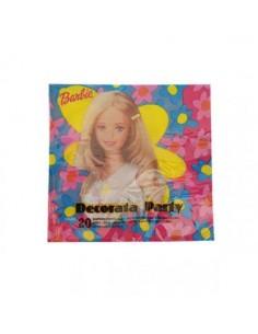 Tovaglioli Barbie  - Confezione da 20 tovaglioli - 33 cm x 33 cm - 2 veli - Nuovo
