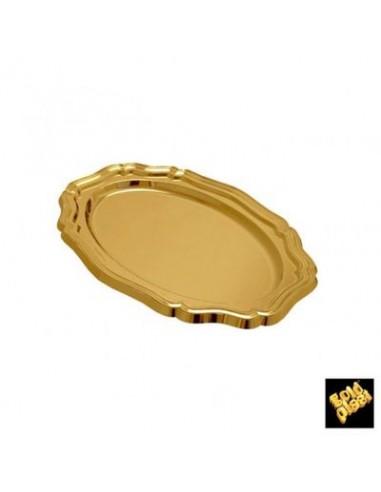 VASSOIO ELEGANCE MAXI ORO 460mmx310mmx24h 3pz  - GOLD PLAST